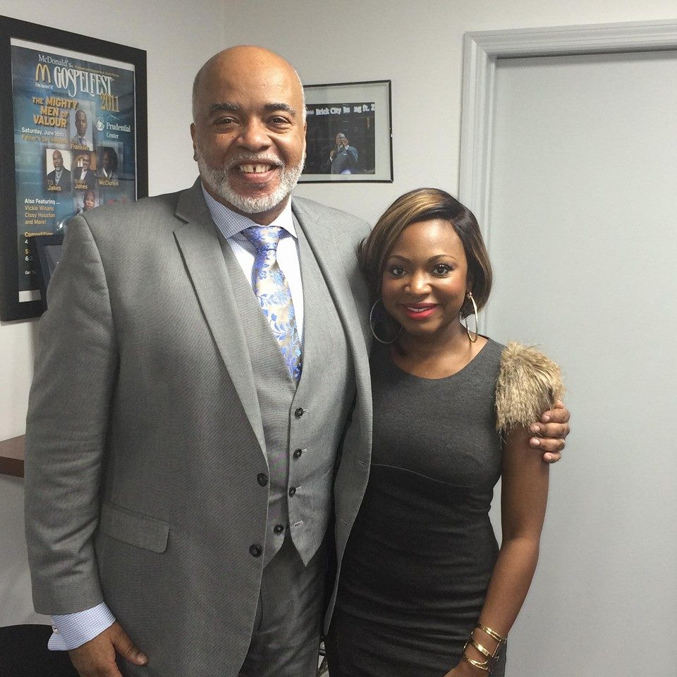 Caption: A Curtis Farrow with Naturi Naughton,