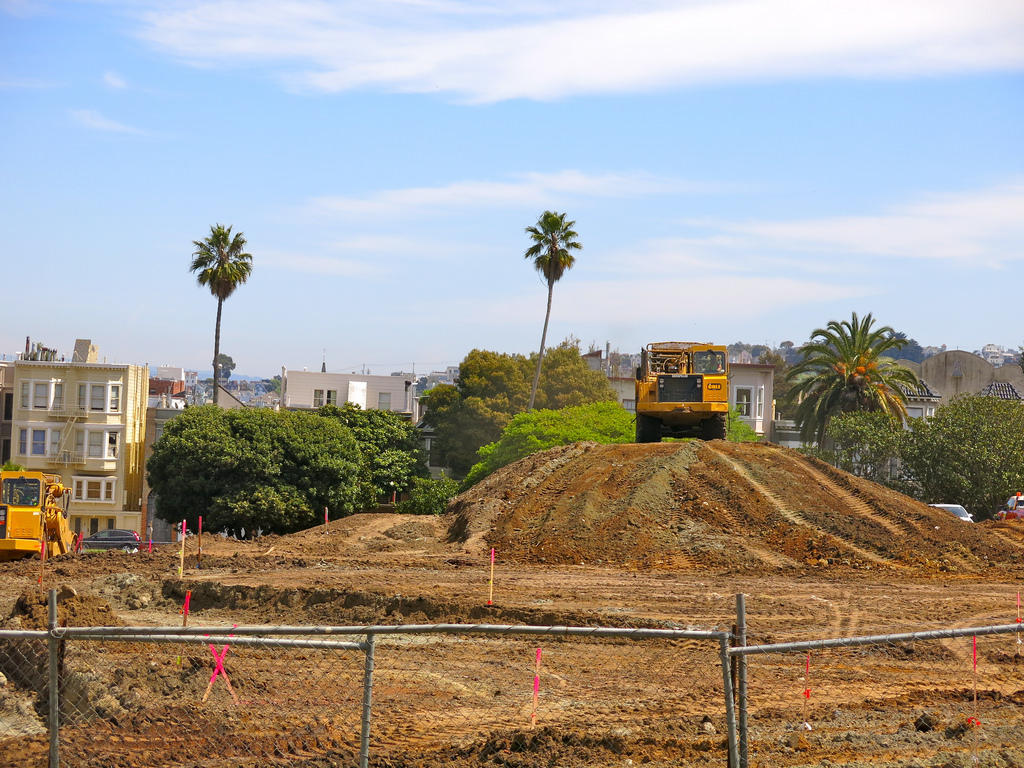 Caption: Bond-funded construction at Dolores Park, Credit: Flickr user torbakhopper