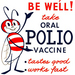 Caption: 1963 CDC poster for the oral polio vaccine., Credit: Wikimedia Commons