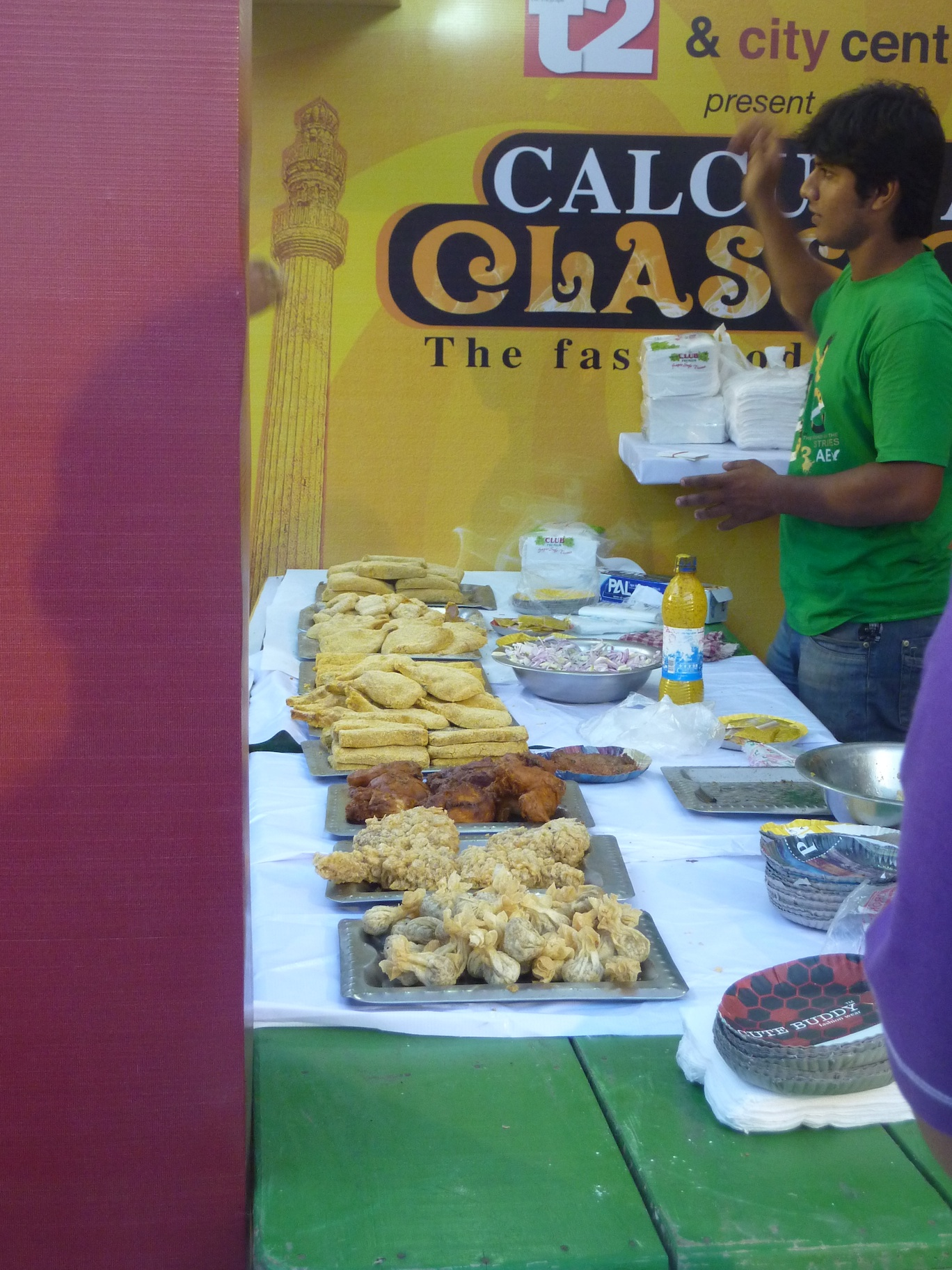 Caption: Calcutta food festival, Credit: Sandip Roy