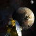 Caption: Artist's concept of the New Horizons spacecraft as it approaches Pluto and its largest moon, Charon, in July 2015., Credit: JHUAPL/SwRI