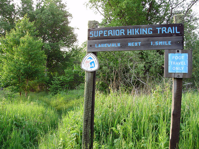 Caption: Superior Hiking Trail Lakewalk (on shore of Lake Superior), Credit: Tim Schleicher