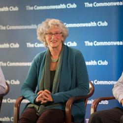 Caption: Ken Caldeira, Stanford; Jane Long, Bipartisan Policy Center; Albert Lin, UC Davis, Credit: Ed Ritger