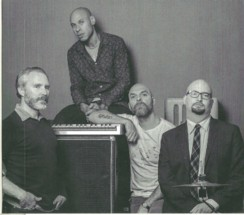 Caption: Band Photo from album The Bad Plus Joshua Redman, Credit: photo of Aaron Diehl from album Space Time Continuum
