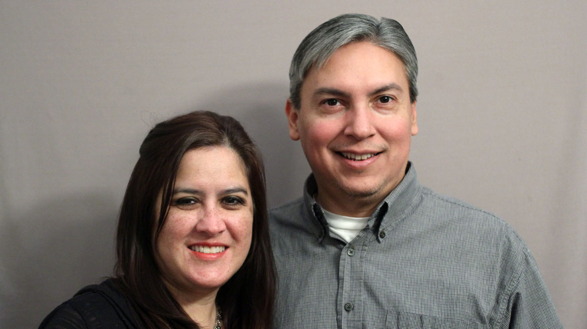 Caption: Yvette Benavidez Garcia (L) and Rene Garcia (R)