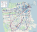 Caption: The new Muni map, created by Jay Primus and David Wiggins, Credit: SFMTA