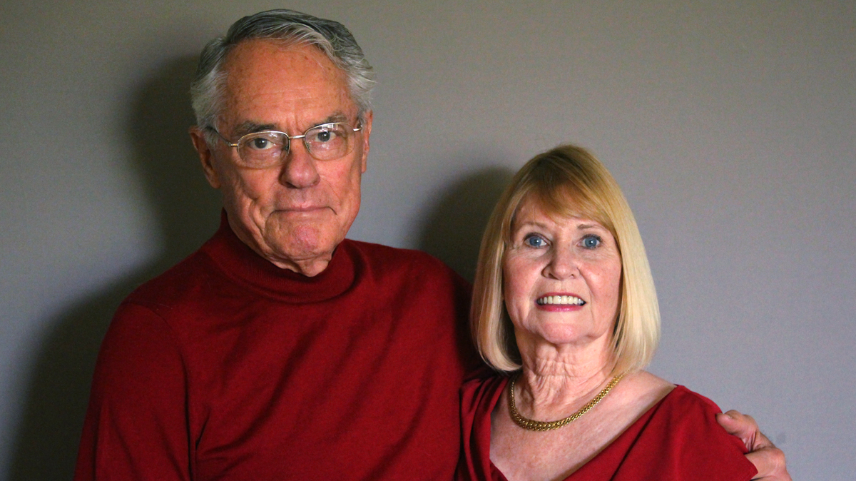 Caption: Donnie (L) and Dana (R) Dunagan
