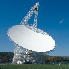 Caption: The Green Bank Telescope is the world's largest, fully-steerable telescope. It will be used in the Breakthrough Listen SETI initiative over the next 10 years., Credit: NRAO/AUI/NSF