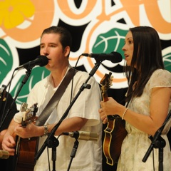 Caption: Bluegrass sweethearts Darin & Brooke Aldridge.