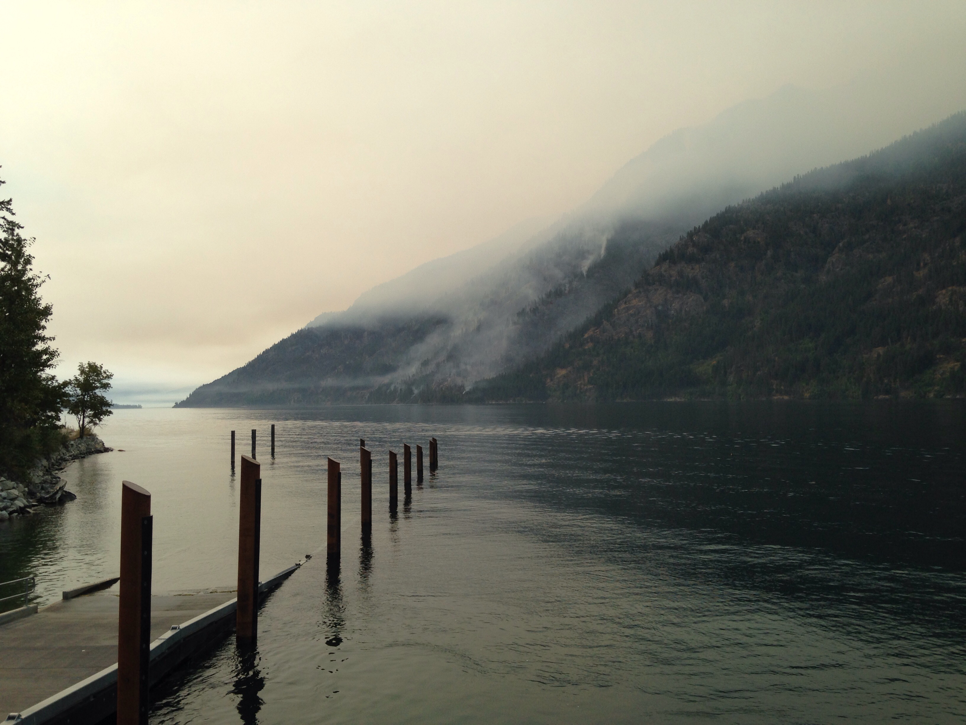 Caption: The view from Stehekin