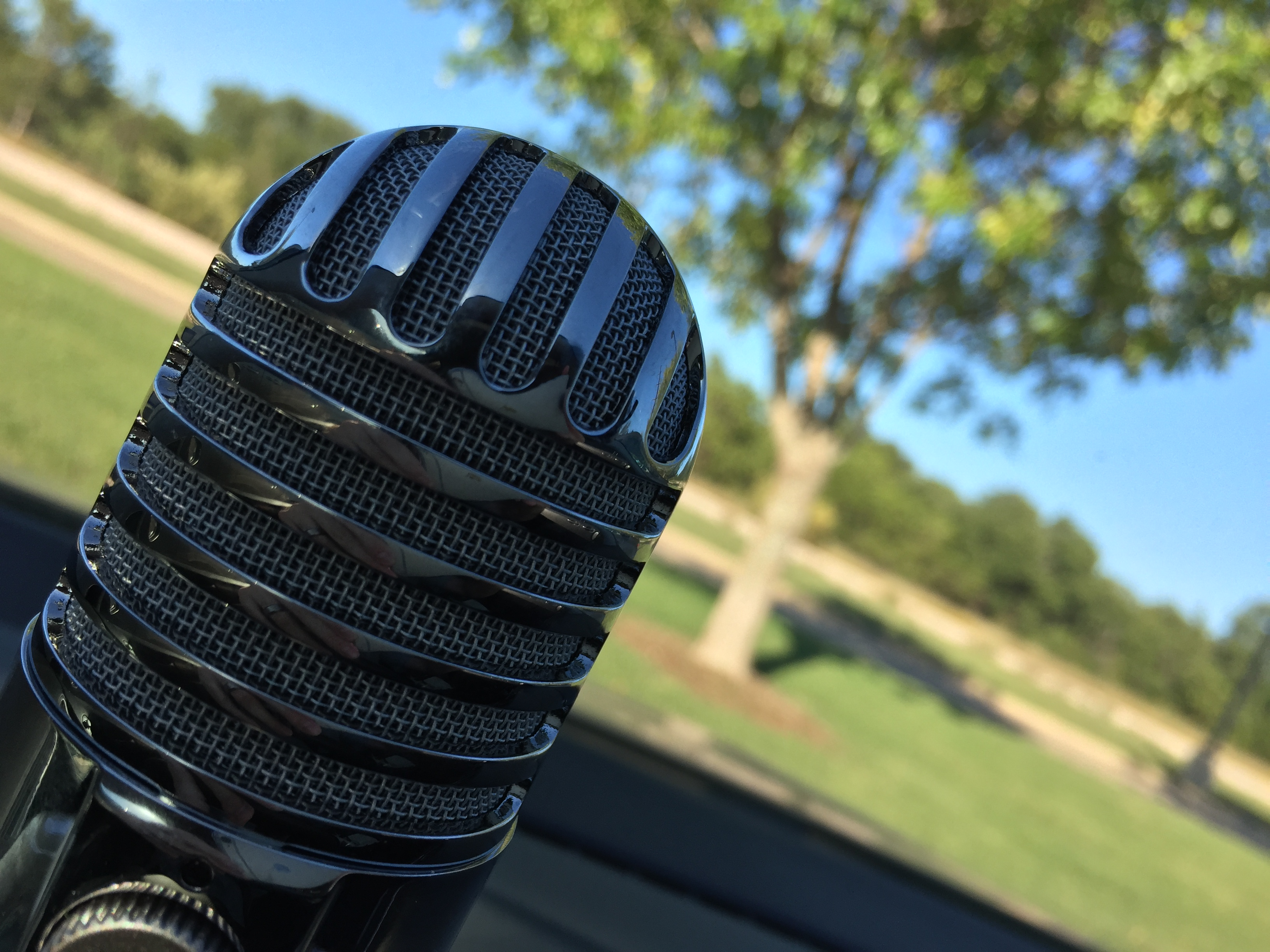 Caption: A microphone on the dashboard of my car., Credit: Matt Croydon