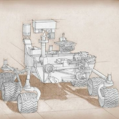 Caption: This artist's sketch is based on the Curiosity rover in NASA's Mars Science Laboratory mission, with proposed modifications based on the science definition team's recommendations. , Credit: NASA/JPL-Caltech