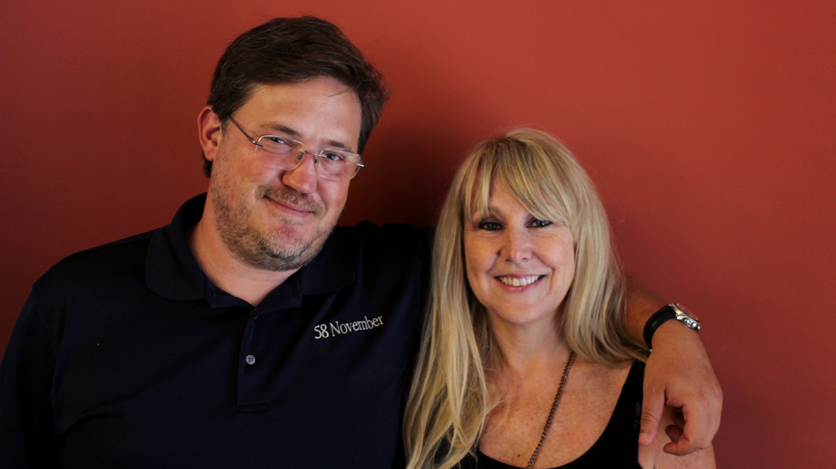 Caption: Andy Downs (L) and Angelia Sheer (R)