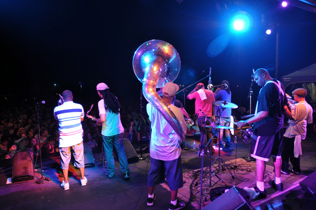 Caption: Rebirth Brass Band, Credit: Mark H. Anbinder