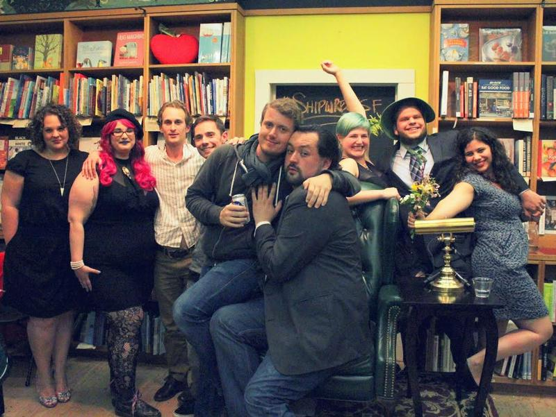 Caption: The assembled writers and creators behind Shipwreck, Credit: ALAN LEGGITT