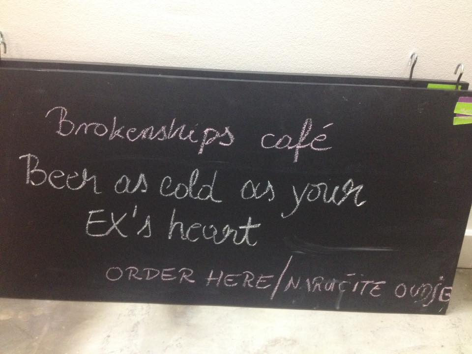 Caption: Beer as cold as your ex's heart