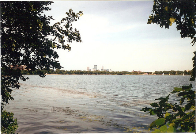 Caption: Bde Maka Ska a.k.a. Lake Calhoun is located in Minneapolis. , Credit: Passaj, flicker/creative commons
