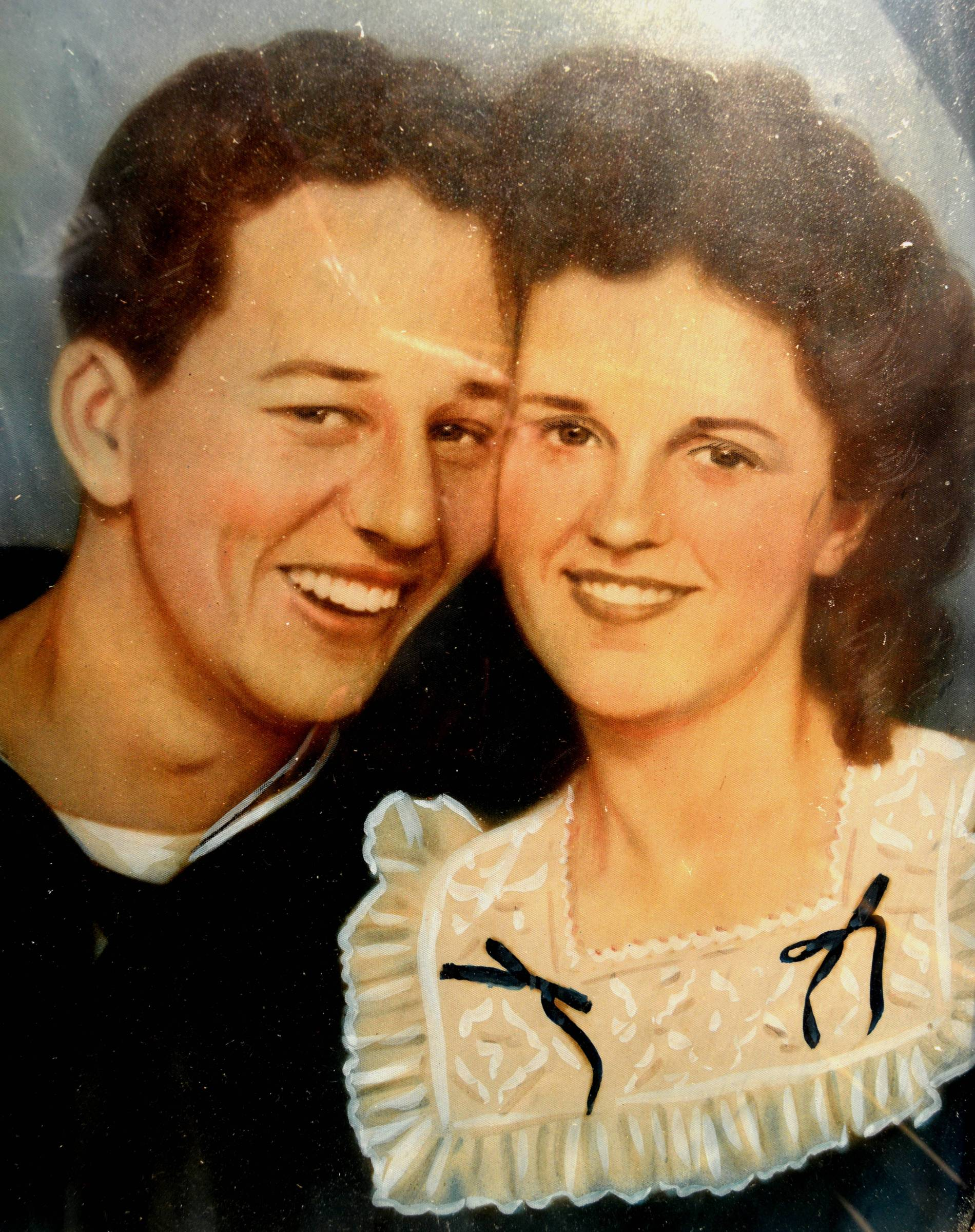Caption: Bill and Odelle Berkley shortly after they got married.