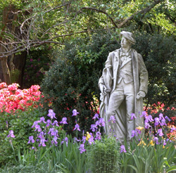 Caption: Thomas Crawford statue, Credit: Norfolk Botanical Garden