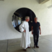 Caption: Brother Marc Chauveau and Anish Kapoor, Credit: Ste Marie de la Tourette, France