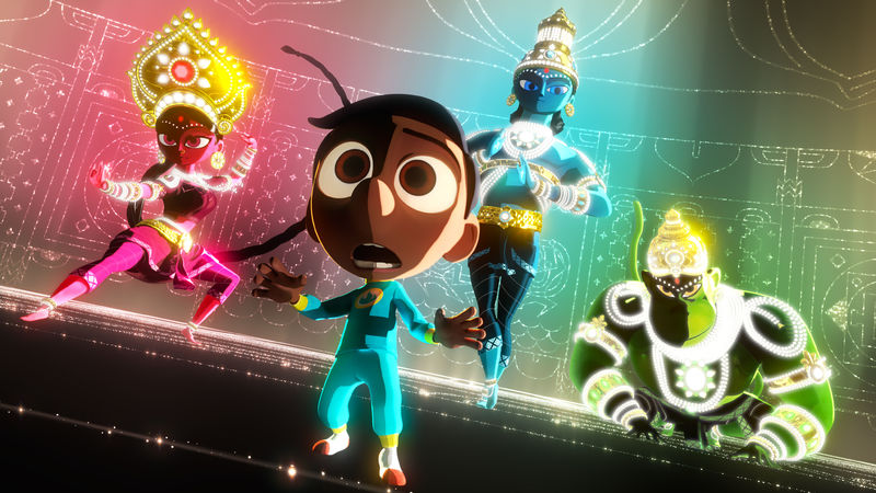 Caption: Sanjay's Super Team, Credit: Pixar