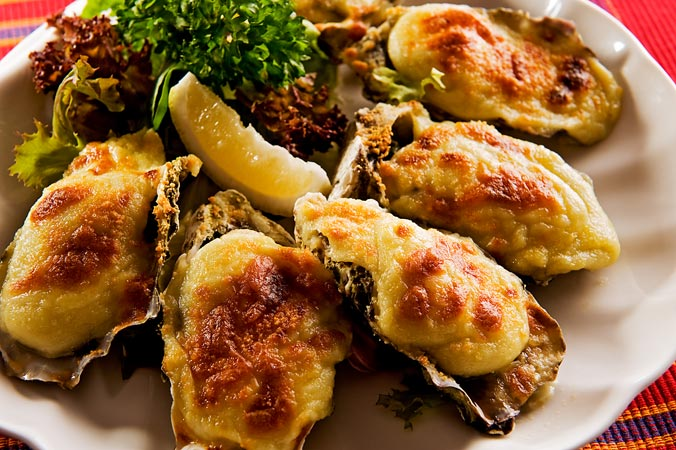 Caption: Oysters Mornay., Credit: Image courtesy of Ship Restaurant & Bar.