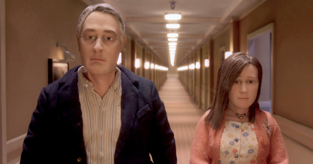 Caption: Scene from Charlie Kaufman's critically-acclaimed stop-motion animated film, 'Anomalisa'