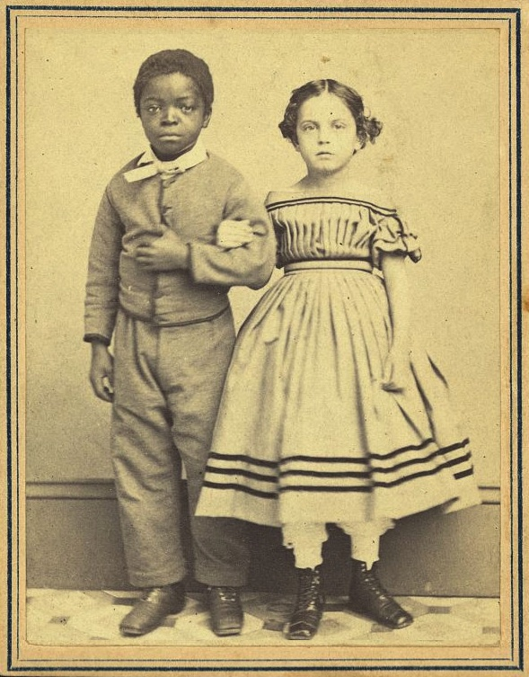 Caption: M. H. Kimball portrait of Isaac White and Rosina Downs, two New Orleans slave children, c. 1863. , Credit: Library of Congress