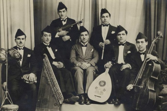 Caption: Baghdad Radio Orchestra 1938, Credit: Shlomo Elkivity