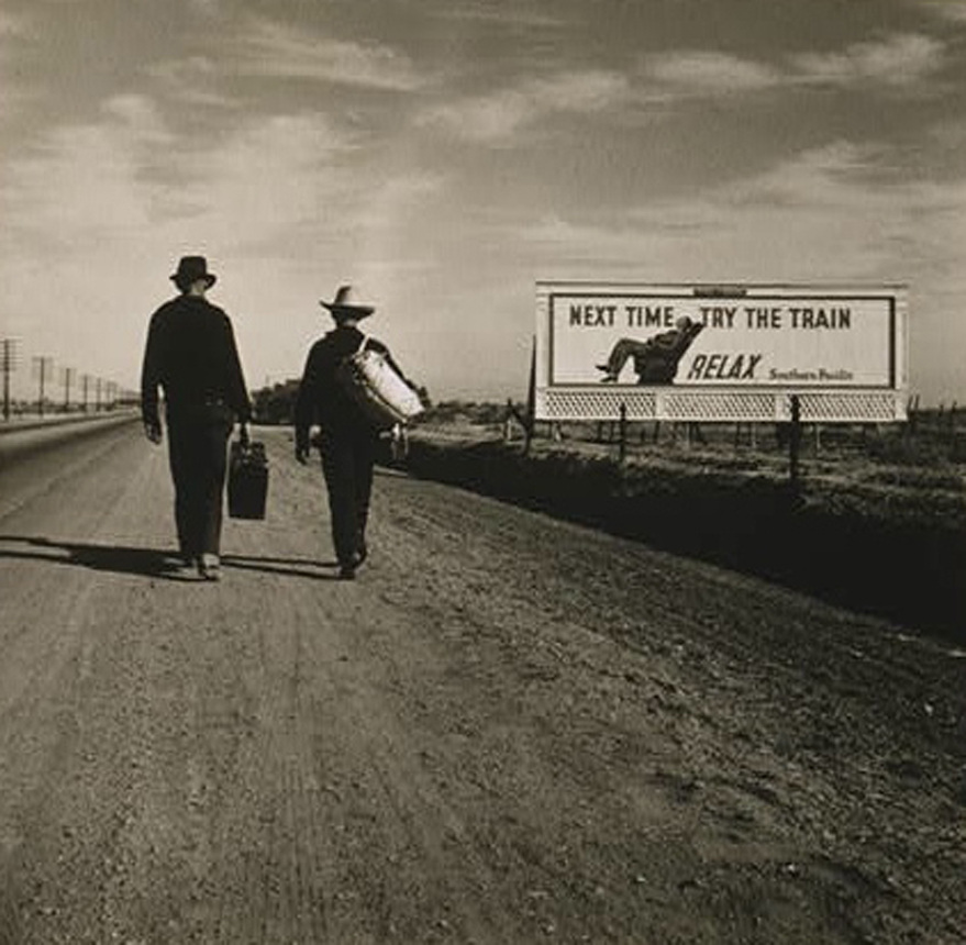 Caption: 'Toward Los Angeles, Calif.,' by Dorothea Lange, 1937. , Credit: Library of Congress