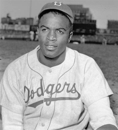 Caption: Jackie Robinson