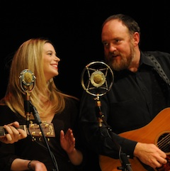 Caption: John Carter Cash and Anna Christina duet on a Carter Family classic.
