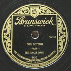 Caption: The Jungle Band 78 RPM label