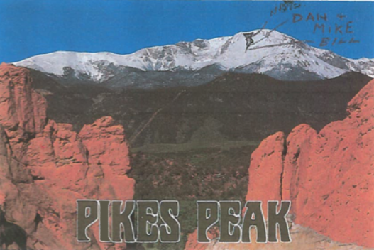 Caption: Pikes Peak