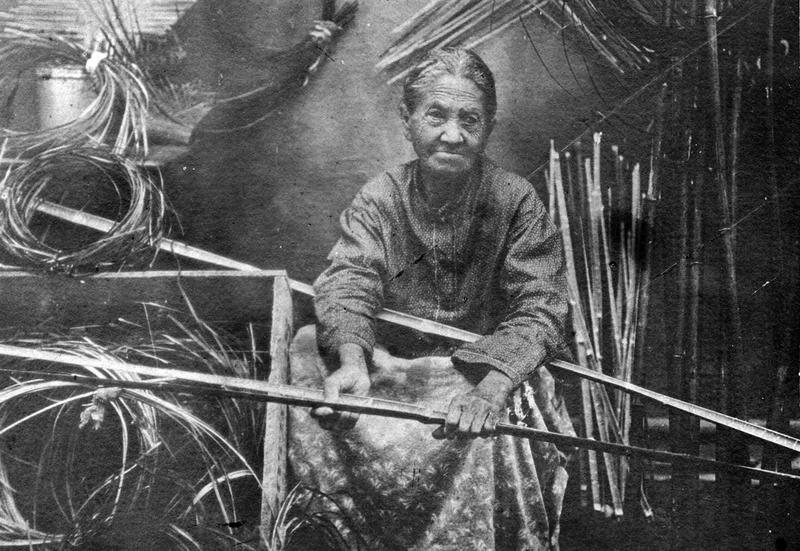 Caption: Chitimacha basket maker Clara Darden, ca. 1900, Credit: MCILHENNY COMPANY ARCHIVES, AVERY ISLAND, LA