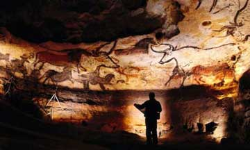 Caption: Cave art in Lascaux, France