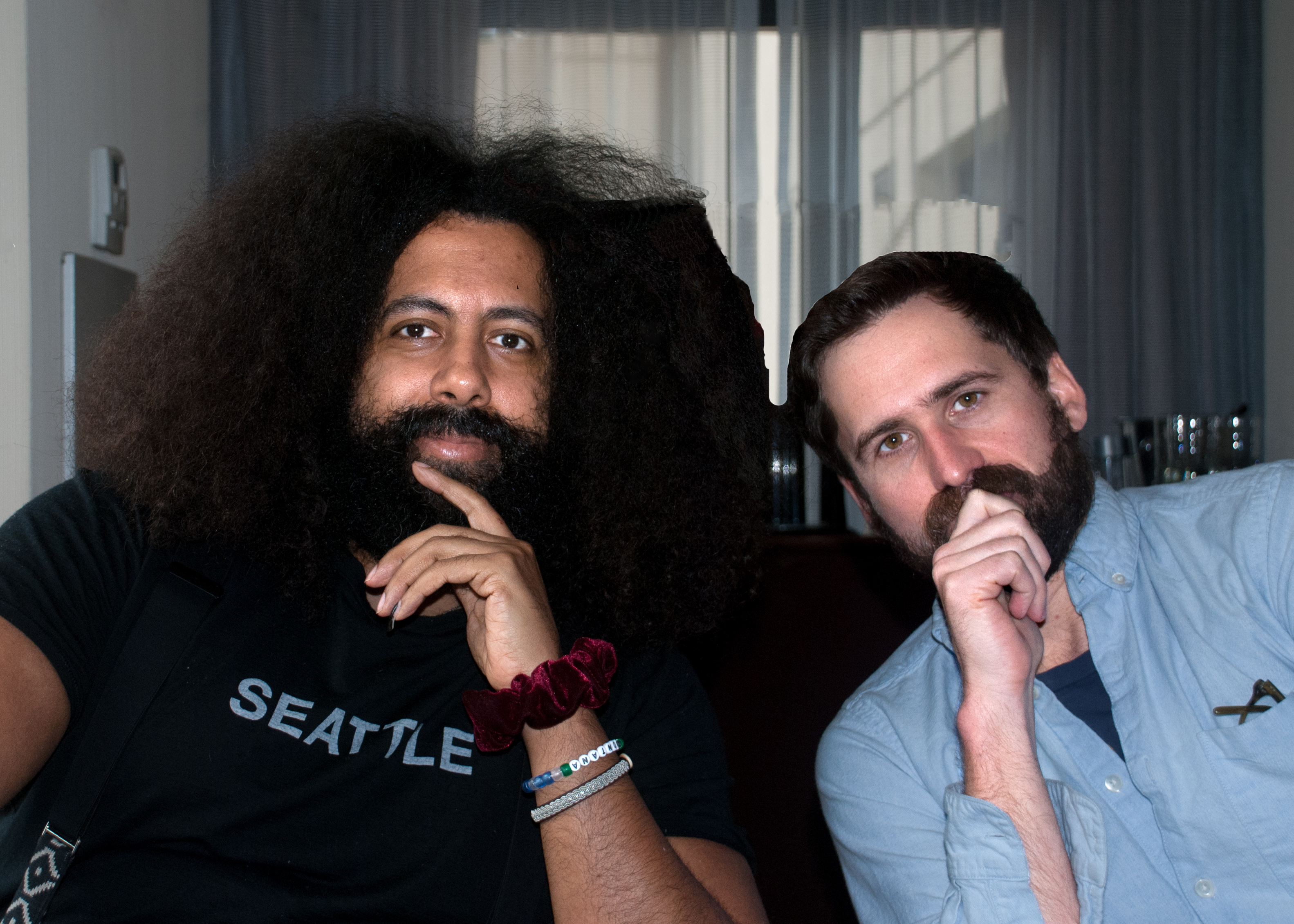 Caption: Reggie Watts & Benjamin Dickinson, San Francisco, CA 3/26/16, Credit: Andrea Chase