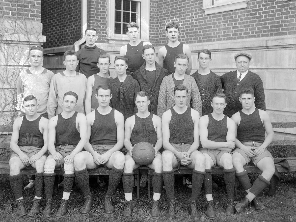 Caption: The University of Virginia Basketball Team, 1914. , Credit: Holsinger Collection, Albert and Shirley Small Special Collections Library, University of Virginia