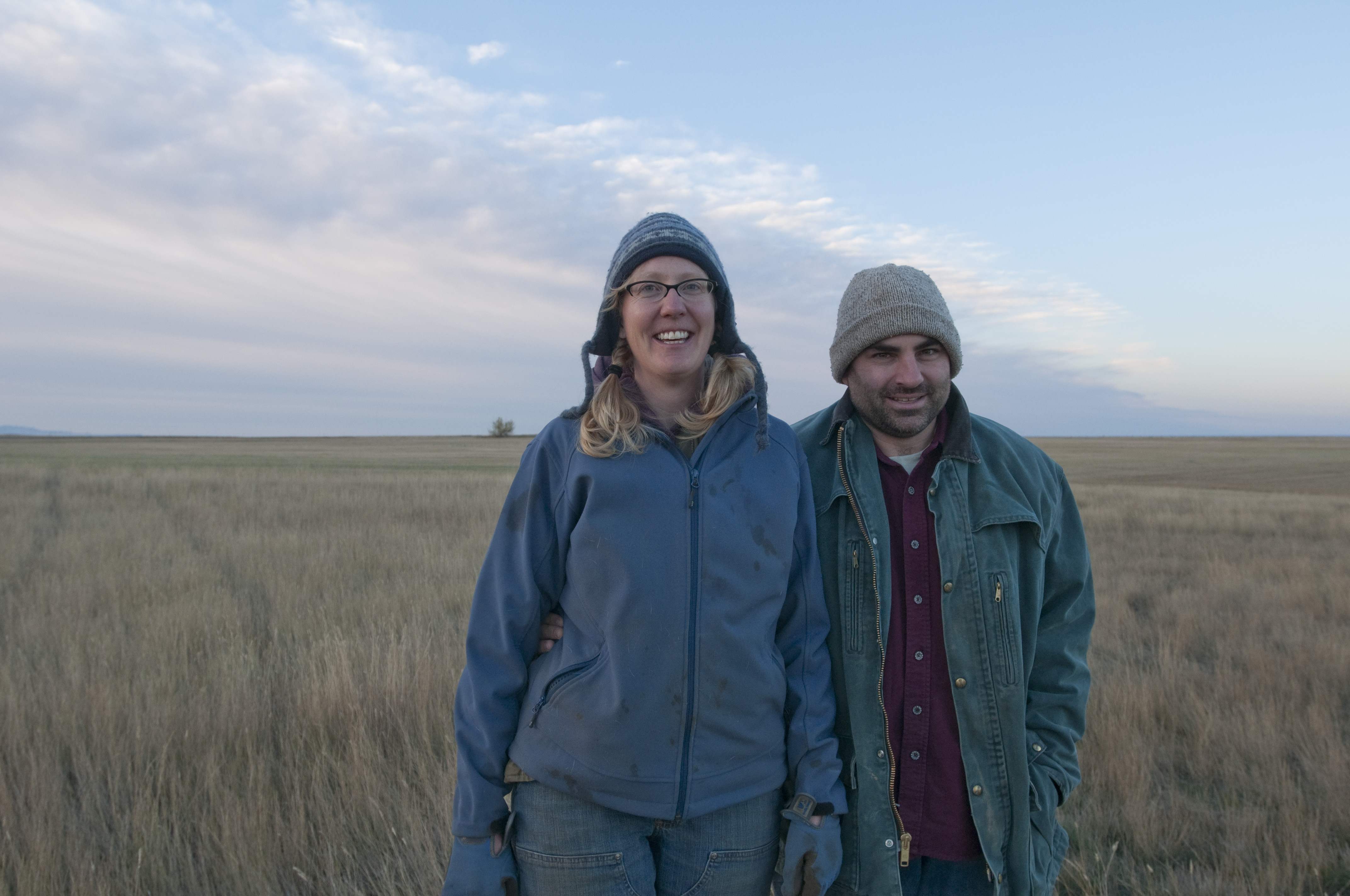 Caption: Anna and Doug Crabtree, northern Montana, Credit: Beth Gibson