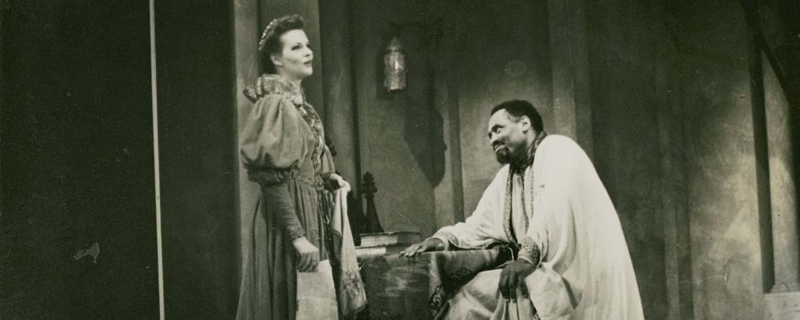 Caption: Paul Robeson in Othello, Act I Scene 4, Credit: Folger FSL Collection