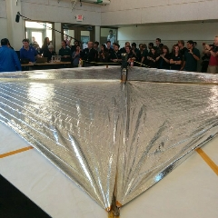 Caption: LightSail 2 successfully deployed its sails in the May 23rd Day In The Life Test, Credit: Jason Davis