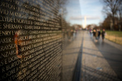 Caption: The Vietnam Veterans Memorial is located in Washington DC., Credit: Howard Ignatius, flickr.com/commons