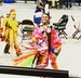 Caption: A dancer on the arena floor at the second annual Bemijigimaag Pow Wow in Bemidji, April 2016.