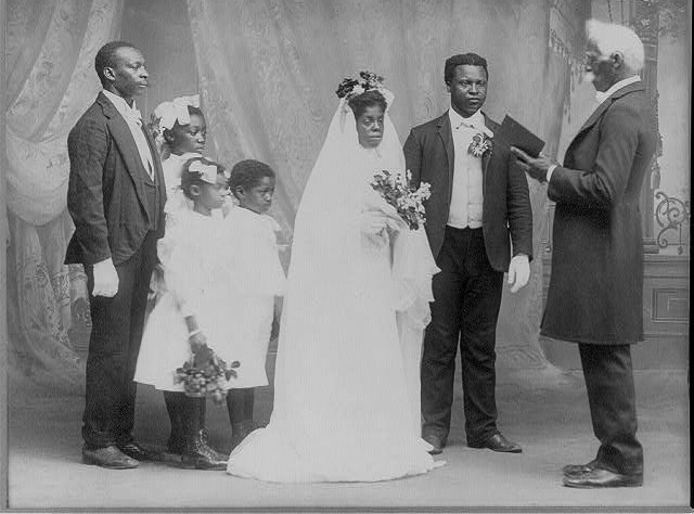 Caption: Wedding Ceremony, 1908., Credit:  Library of Congress