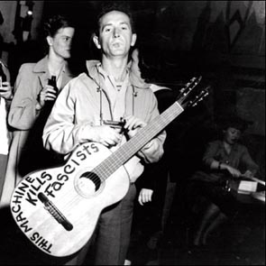 Caption: Woody Guthrie
