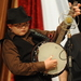 Caption: 13 year-old banjo picker Jesse Clayton Meador performs with his family band Kentucky Just Us.
