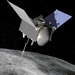 Caption: OSIRIS REx spacecraft at Bennu in artist's conception., Credit: NASA/University of Arizona