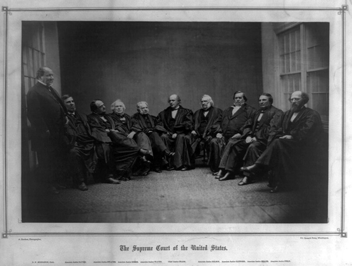 Caption: The Supreme Court of the United States, December 1864. A. Gardner, photographer. , Credit: Library of Congress.