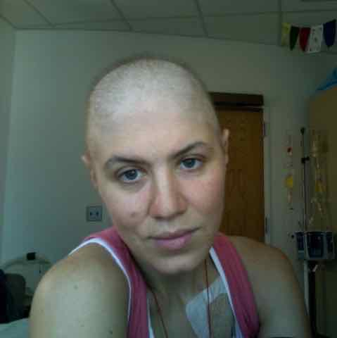 Caption: A young woman getting chemotherapy treatments, 2007. , Credit: Ibby Caputo