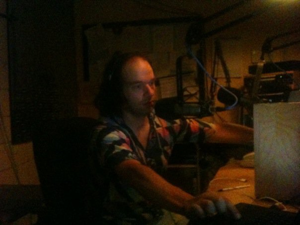 Caption: On the air at WGDR-Plainfield in July 2008, Credit: Colleen Newton